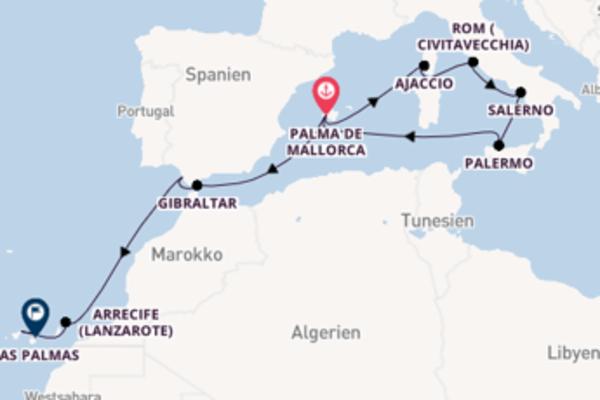Entdecken Sie Arrecife ab Palma de Mallorca