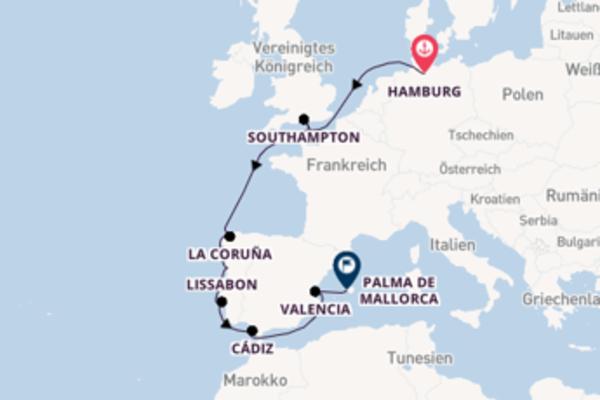 Kreuzfahrt mit der AIDAvita nach Palma de Mallorca