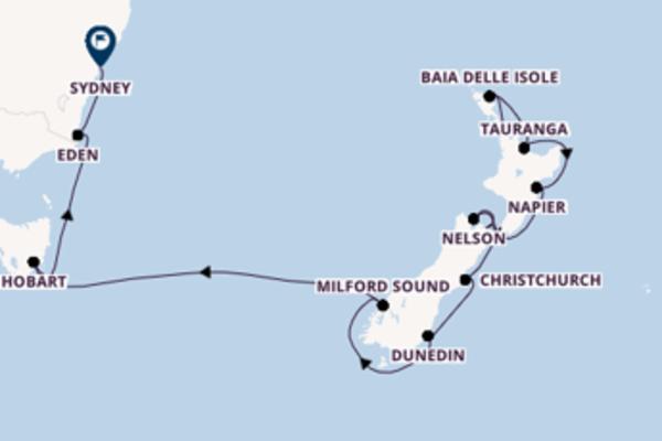Destinazione Sydney da Auckland