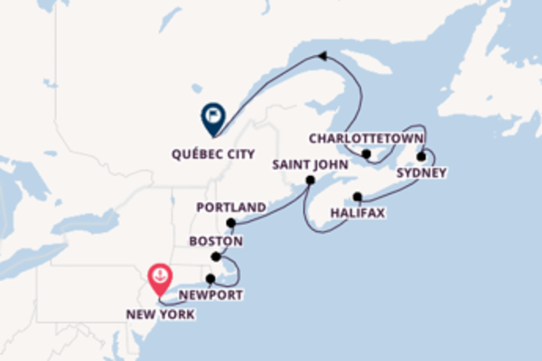 11 day voyage from New York to Québec City