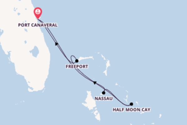Fare rotta verso Freeport a bordo di Carnival Elation