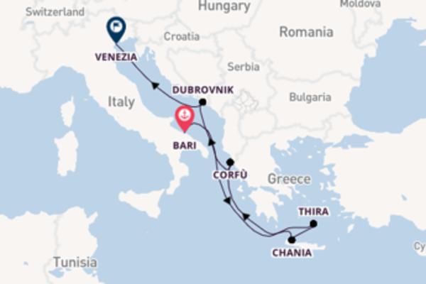 Scopri Corfù arrivando a Venezia