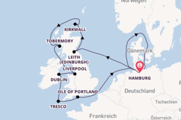 Britische Inseln bis Travemünde