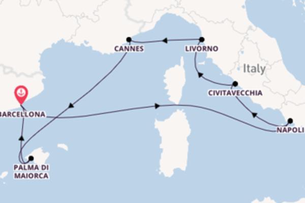 8 giorni verso Barcellona passando per Livorno