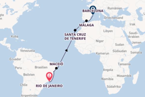 Erleben Sie Rio de Janeiro, Salvador da Bahia und Barcelona