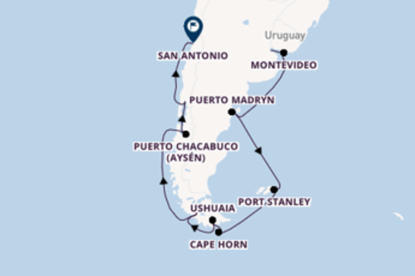 Sailing from Buenos Aires to San Antonio