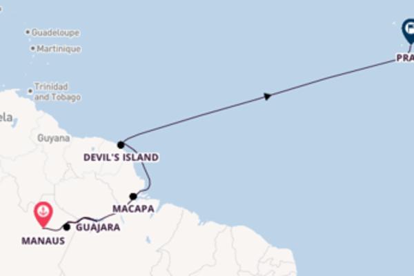 13 day trip to Praia from Manaus