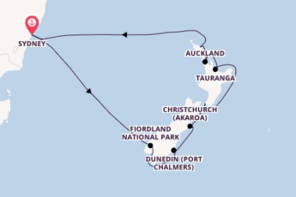 Cruising from Sydney via Dunedin