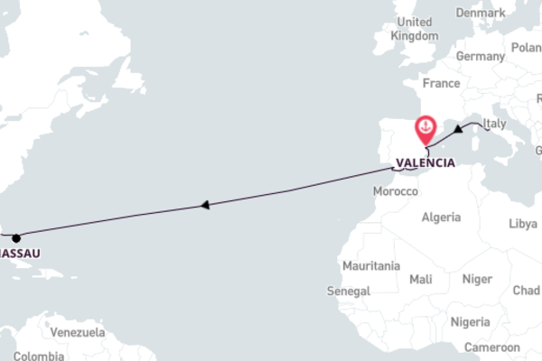 Sailing to Miami from Rome 15-Day Discovery