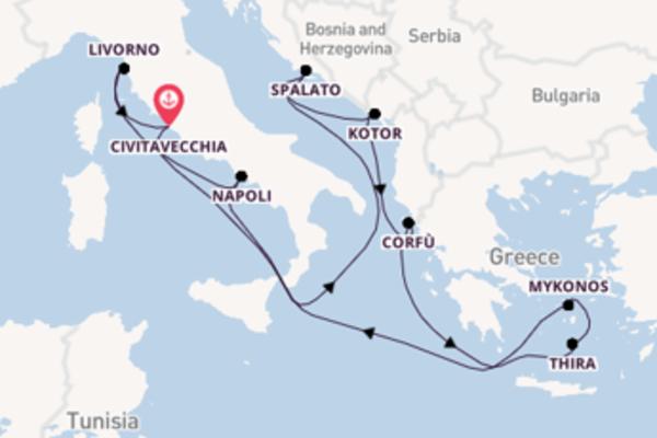 Lasciati incantare da Kotor e Civitavecchia