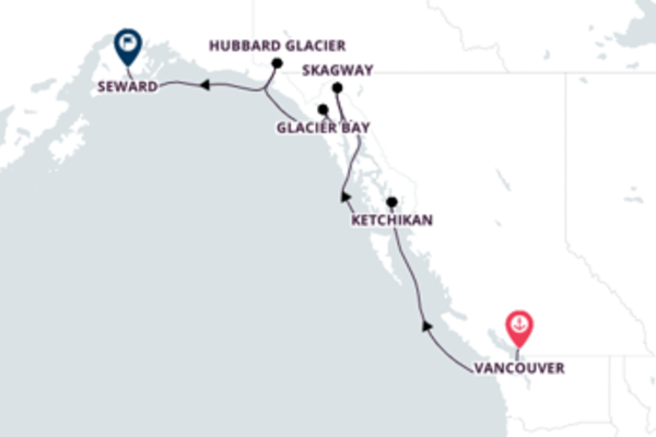 Cruising to Seward from Vancouver, BC 8-Day Expedition