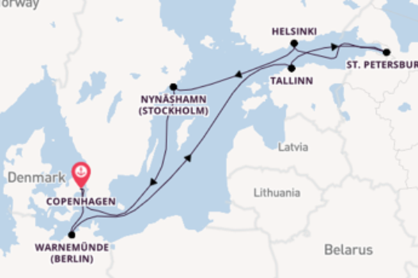 Cruise from Copenhagen with the Norwegian Escape