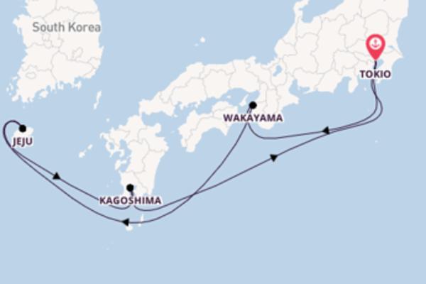 Cruise naar Tokio via Wakayama