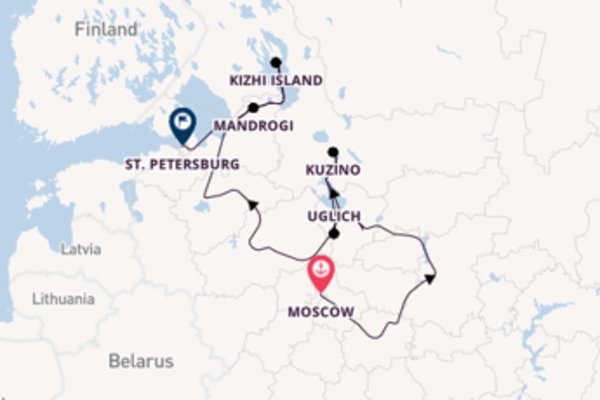 Sailing with Viking River Cruises from Moscow to St. Petersburg