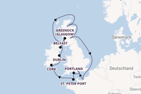 13 Tage Britische Inseln Kreuzfahrt