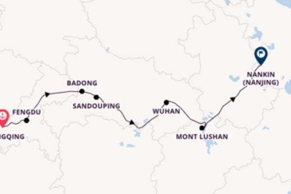 Douce croisière vers Nankin (Nanjing), Chine via Sandouping, Chine