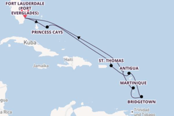 Erkunden Sie Martinique ab Fort Lauderdale (Port Everglades)