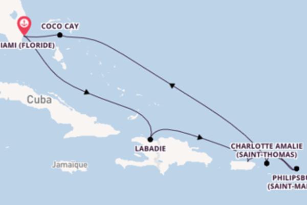 Croisière de 9 jours depuis Miami (Floride) avec Royal Caribbean