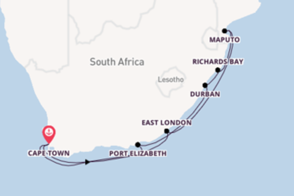 Expedition with the Azamara Pursuit from Cape Town