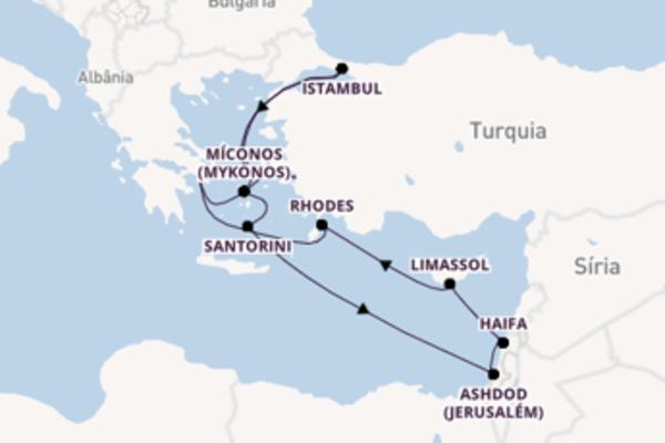 A bordo do Norwegian Spirit em uma viagem de 11 dias