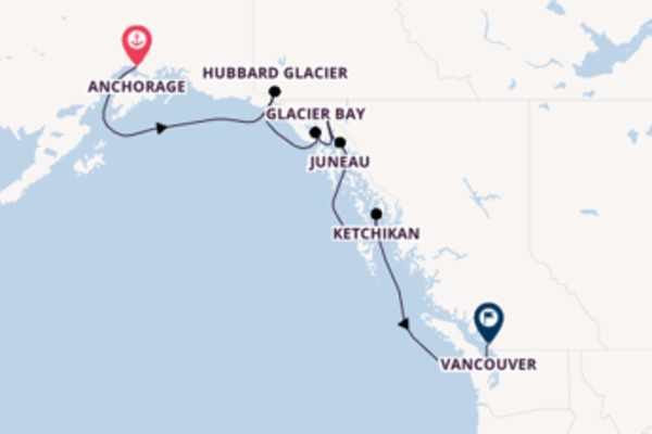 Cruising to Vancouver from Anchorage/Whittier,