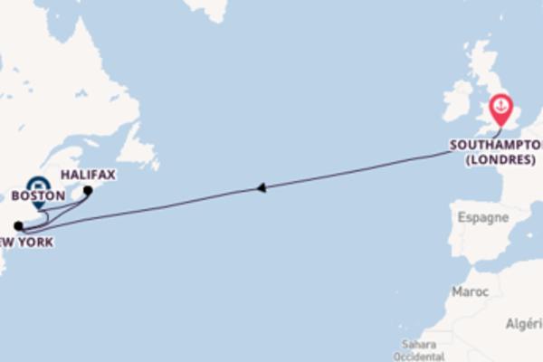 Superbe croisière vers New York via Halifax