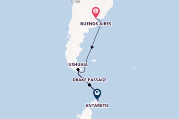 In 17 Tagen nach Ushuaia, Argentinien über Ushuaia, Argentinien