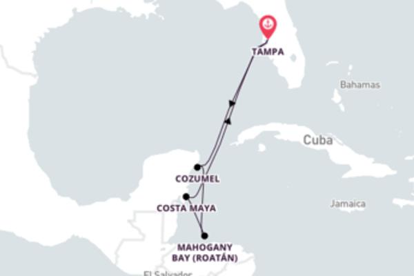 Épico cruzeiro de 7 dias a bordo do Carnival Legend