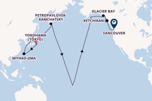 Expedition from Yokohama (Tokyo) to Vancouver via Kodiak