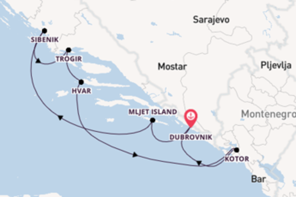 8 day voyage from Dubrovnik