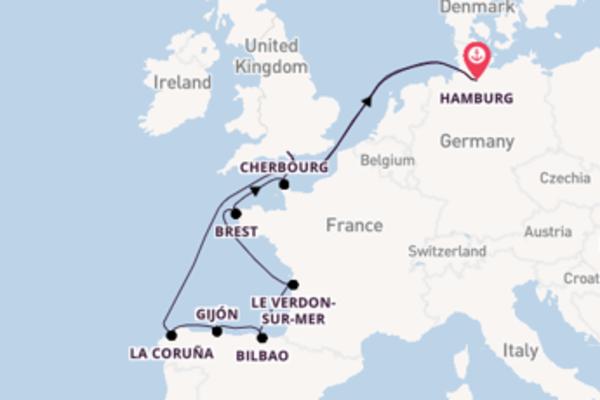 13daagse cruise vanaf Hamburg