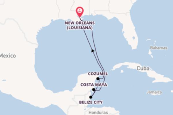 Viaggio da New Orleans (Louisiana) verso Belize City