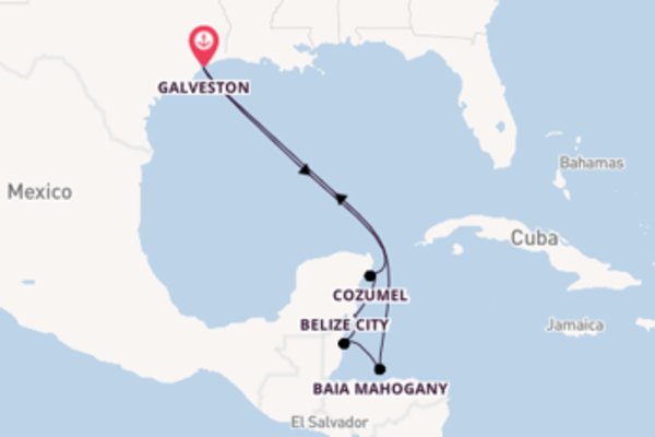 Attraente crociera da Galveston verso Costa Maya