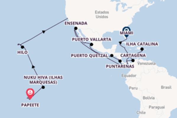 Jornada de 37 dias até Miami com o Regatta