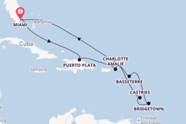 10 day trip on board the Radiance of the Seas from Miami