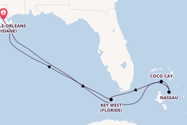 Nassau et une passionante croisière depuis Nouvelle-Orléans (Louisiane)