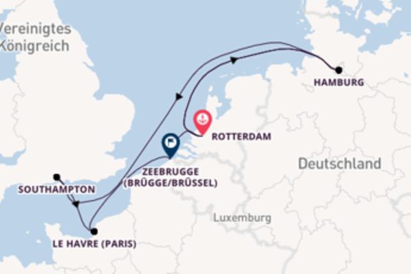 10-tägige Kreuzfahrt ab Rotterdam