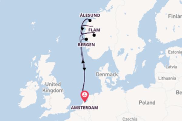 Navigando da Amsterdam verso Olden
