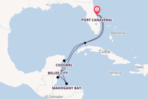 8-daagse cruise naar Belize City