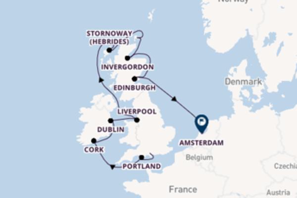 Sailing from Southampton (London) via Cork