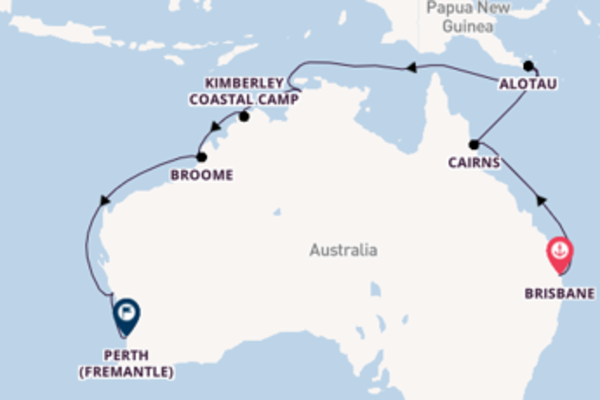 16 day cruise from Brisbane to Perth