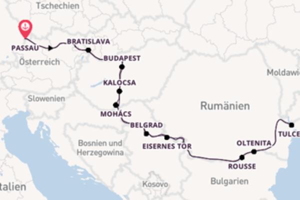 In 15 Tagen nach Passau, Deutschland