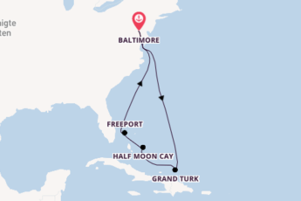 Von Baltimore über Grand Turk in 8 Tagen