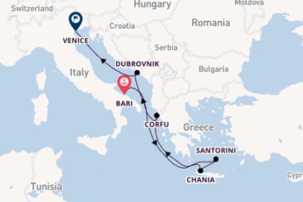 Cruising to Venice from Bari