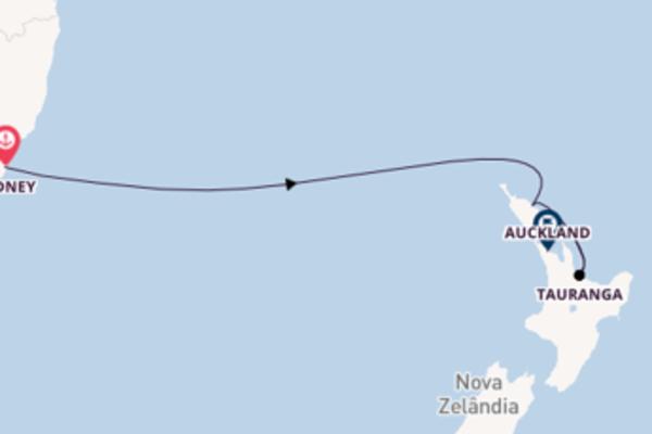 Magnífico cruzeiro até Auckland