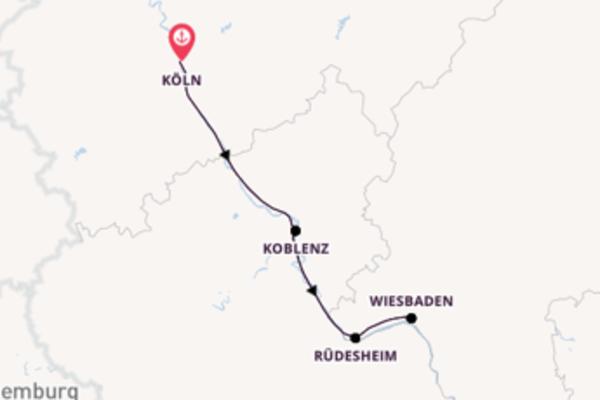 Begeisternde Kreuzfahrt über Koblenz ab Köln