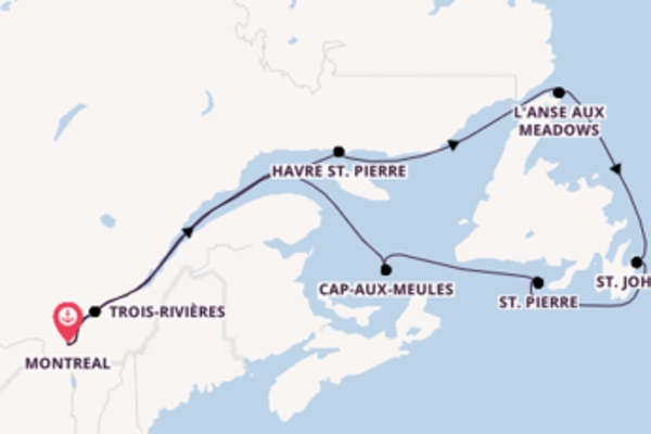 Begeisternde Reise ab Montreal