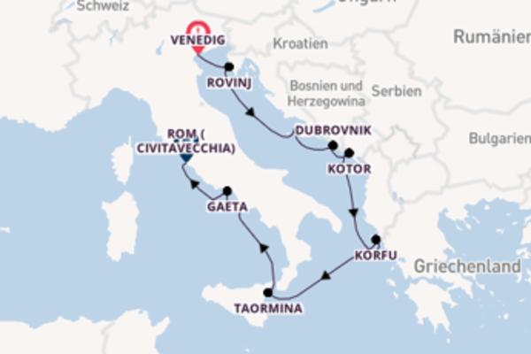 Faszinierende Kreuzfahrt über Gaeta ab Venedig
