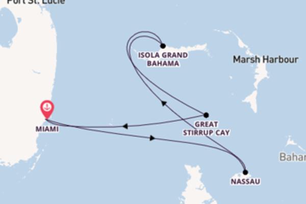 Lasciati conquistare da Nassau arrivando a Miami