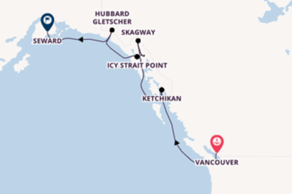 8-tägige Kreuzfahrt ab Vancouver